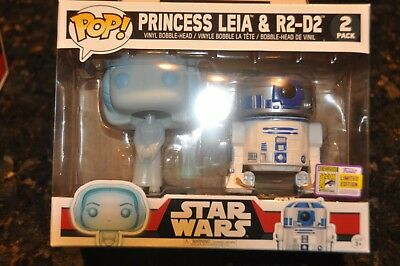 Sdcc Comic Con 2017 Funko Star Wars Princess Leia And R2D2 2 Pack Exclusive Le