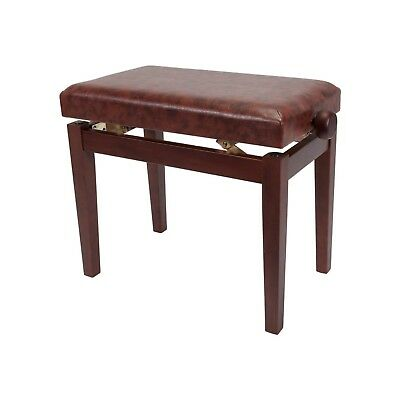 NEW Crown Standard Height Adjustable Piano Keyboard Bench Stool (Walnut)