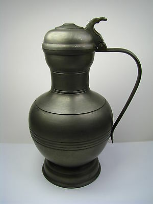 A DUTCH SOLID PEWTER FLAGON PITCHER PITCHER VESSEL by Metawa Holland Netherlands