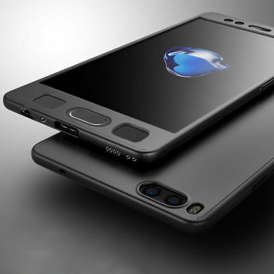 360° Full Black Cover For Xiaomi Mi A1 5X Shockproof Hard Case + Tempered Glass
