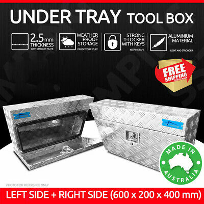Aluminium Under Tray Body Tool Box 60 20 40 Underbody Ute Truck Trailer Toolbox