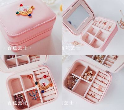 Sailor Moon Zecter Girl's Jewelry Box Portable Gift Travel Accessory Storage Bag