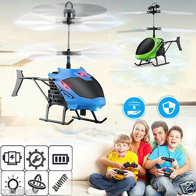Mini RC Helicopter Remote Control Aircraft Drone Children Gift Flashing Light