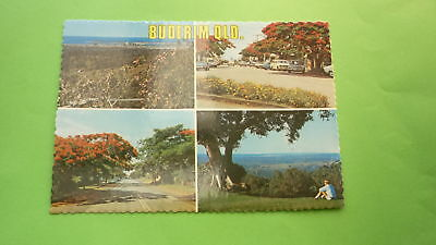 OLD 1970s AUSTRALIAN POSTCARD, BUDERIM QUEENSLAND, VIEW OF THE TOWN
