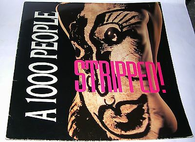 "A 1000 People - Stripped (4 track 12"" EP) 1991  (Band signed Inner sleeve)"