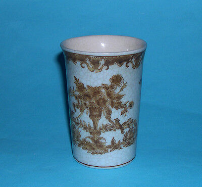 Eastern Art Pottery - Attractive Raku Style Oriental Cylindrical Beaker.