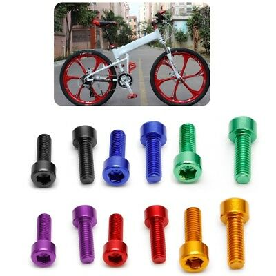2Pcs M5*15MM Bike Water Bottle Cage Bolts Aluminium Alloy Hex Tapping Screws