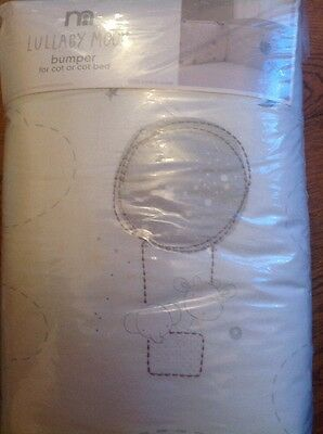 Mothercare Lullaby Moon Cot / Cotbed Bumper  *** Bnip ***
