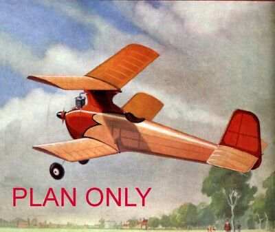 Sporty Biplane Vintage Model Aeroplane Plan, Free Uk Postage
