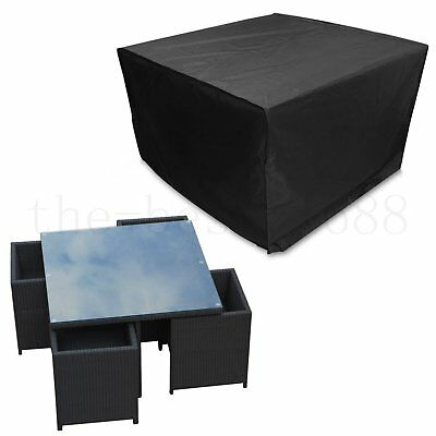 Heavy Duty Waterproof Rattan Cube Cover Outdoor Garden Furniture Rain Protect AU
