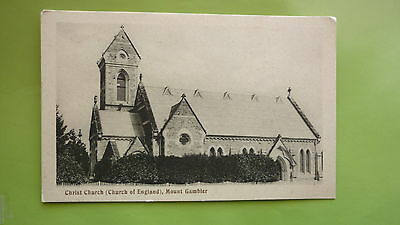 EARLY 1900s SOUTH AUSTRALIAN POSTCARD, MOUNT GAMIBER CHURCH OF ENGLAND