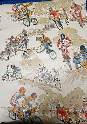 Vintage nos Old school bmx wallpaper 4.5m x 52cm redline huffy haro hutch gt rad
