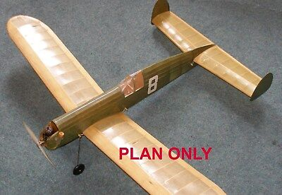 Contest Kits Cresta Vintage Model Aeroplane Plan, Free Uk Postage