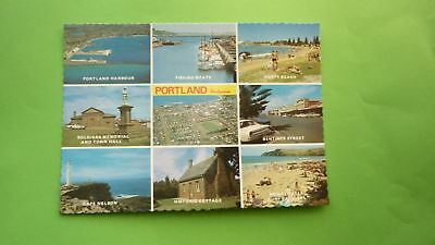 OLD 1970s AUSTRALIAN POSTCARD, PORTLAND VICTORIA, VIEW OF THE TOWN