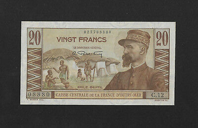 UNC- 20 francs 1947 FRENCH EQUATORIAL AFRICA