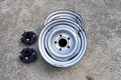 Holden 14 inch rims and trailer hubs