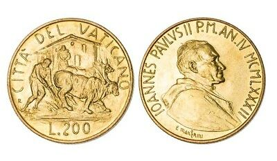 VATICAN CITY Coin John Paul II - 200 Lire 1982 FAO Animal Aluminum-Bronze UNC BU