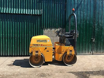 Benford Terex TV1200 Vibrating Roller - Double Drum 1200mm wide - Ride on Road