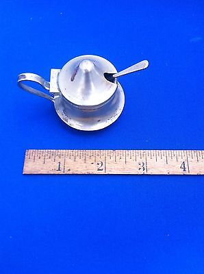 Antique EPNS Mustard Pot with spoon and liner