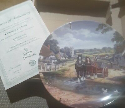 royal doulton collector plate 'crossing the ford'