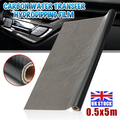 16.5ft Carbon Fiber Texture Water Transfer Film Hydro Dip Printing Car Sticker