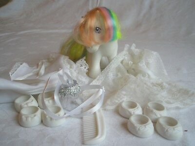 """G1 Vintage My Little Pony - """"Confetti"""" with Finery by Hasbro."""
