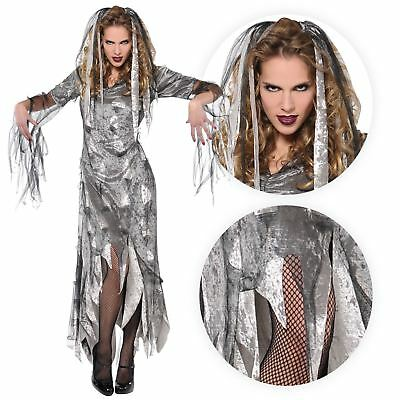 Adult Ladies Ghoul Pirate Ghost Princess Costume Womens Halloween Fancy Dress