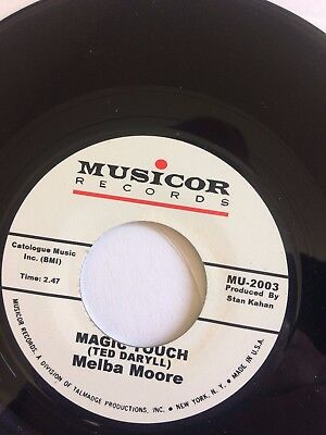 """melba moore/ the platters – Magic Touch / Not My Girl  7"""" single"""