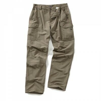 Craghoppers Mens Nosilife Cargo Outdoor Hike Walk Trousers in Pebble Beige