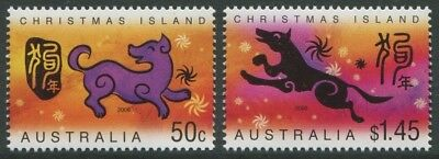 Year Of The Dog 2006 - Mnh Set Of Two (B26-Rr)