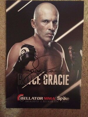 Royce Gracie Signed Photo From Bellator 179