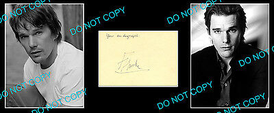 Ethan Hawke Famous American Actor & Director Signed Cover +2 Photos