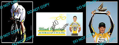 Mark Renshaw Australian Cycling Champion Signed Cover +2 Photos