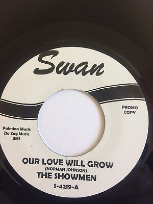 """The Showmen – Our Love Will Grow / you're everything  7"""" single."""
