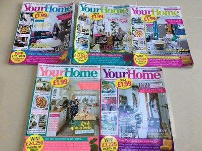 Collection of 5 Your Home Magazines
