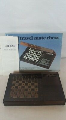 1983 Scisys 'travel Mate' Electronic Chess Set - Rare, Early Portable.