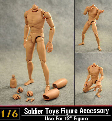 """New Dragon 1/6 12"""" Figure Male Body Normal Shoulder Soldier Story Model Toy B001"""