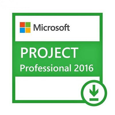 Ms Microsoft Project Professional 2016 | PROJECT 2016 | PRO 2016 Digital Key