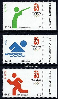 Malta 2008 Olympic Games - Beijing Complete Set SG 1590 - 1592 Unmounted Mint