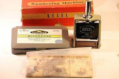 Vintage Rexel Numbering Machine 3M/m With Stamp Pad