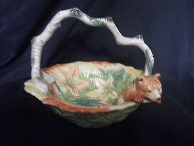 Fitz and Floyd High Sierra Collection Bowl with Handle and Bear
