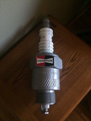 CHAMPION Spark Plug Plastic Advertising Store Display Auto Garage Sign Giant