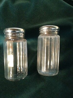 Antique Asprey Of London Sterling Silver Topped Dressing Table Jars