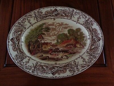 A J Wilkinson Royal Staffordshire Pottery RURAL SCENES Large Serving Platter
