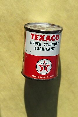 4 oz. TEXACO Canada Upper Cylinder oil imperial tin can canadian FULL Un-opened