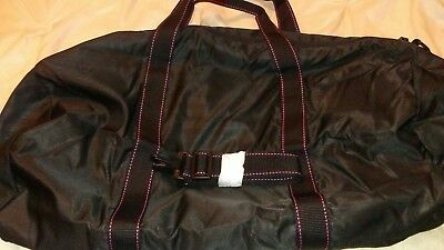 New Black With Hot Pink Stitch Victoria Secret Weekender Gym Travel Bag Must See