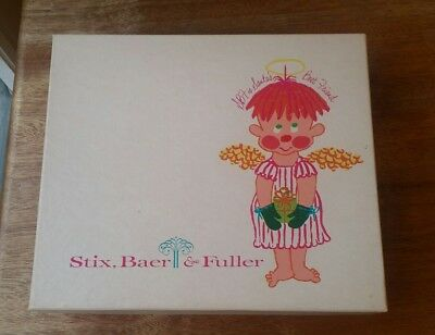 VTG Stix Baer Fuller Defunct Department Store Christmas Gift Box SBF St Louis MO