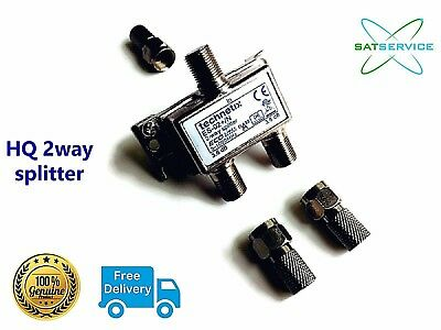 Technetix 2-Way Splitter F-type Connectors For Virgin Media, Freeview Brand New