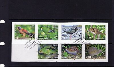 NEW Zealand 2000 Birds issue of 7 on paper with First Day Postmark.