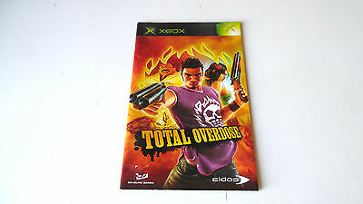 TOTAL OVERDOSE INSTRUCTION MANUAL (BOOKLET) ONLY, xbox
